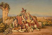 NOTZ, JOHANNES (Oberstrass 1802 - 1862 Zurich). Siesta in der röm