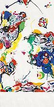 FRANCIS, SAM (San Mateo/Kalifornien 1923 - 1994 Santa Monica) Ohne Titel. 1987. Farbaquatintaradierung. 5/20. Unten rechts signiert: Sam Francis. Darstellung 121 x 83.3 cm auf Vélin von BFK Rives 141,5 x 83,3 cm. Erschienen und gedruckt bei The