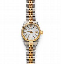 LADY'S WRISTWATCH, ROLEX DATE, 1980s.Steel and