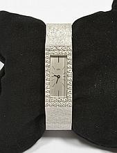 DIAMOND LADY'S WRISTWATCH, UTI, ca. 1960.White