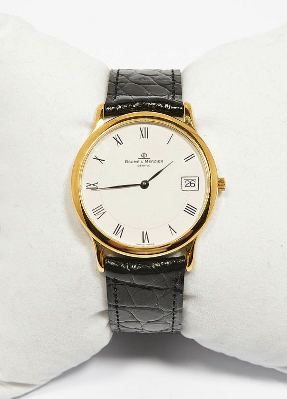 WRISTWATCH, BAUME & MERCIER, 1980s.Yellow gold