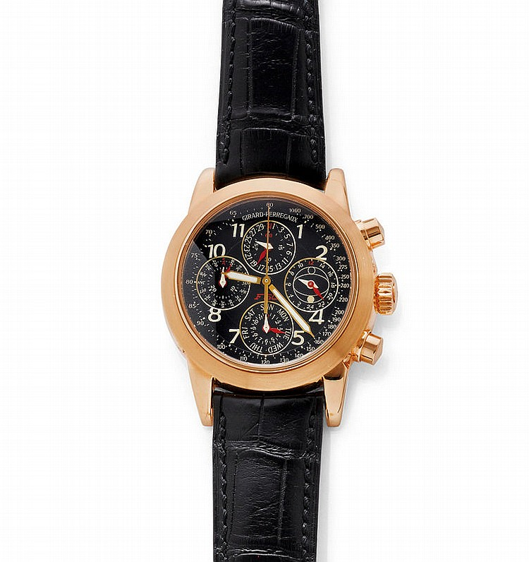 GENTLEMAN'S WRISTWATCH, AUTOMATIC, CHRONO, GIRARD