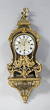 BOULLE CLOCK ON PLINTH,Regency, the movement