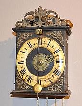 WALL CLOCK WITH ALARM AND FRONT PENDULUM,Baroque,