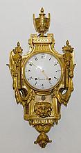 CARTEL CLOCK,Louis XVI, signed 'LEPAUTE A