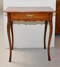SMALL TABLE,Baroque, Berne, 18th century.Walnut.