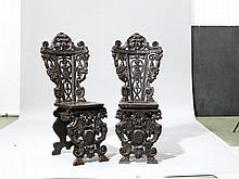 PAIR OF CHAIRS,Renaissance style, Italy, end of