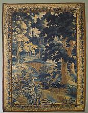 VERDURE TAPESTRY,France, 17th century.Forest