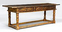REFECTORY TABLE,Louis XIII, France.Walnut and