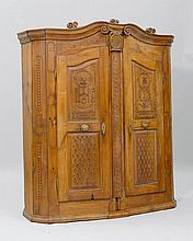 CARVED AND INLAID CUPBOARD, Bregenz Forest, circa