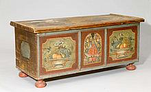 PAINTED CHEST, Austria, 19th century. Pinewood.