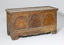 BAROQUE CHEST, Alpine region. Pine with traces of