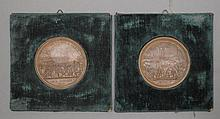 2 PLAQUES,electrotypes after designs by
