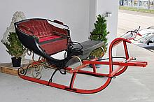 HORSE-DRAWN SLEIGH, probably Germany, 19th