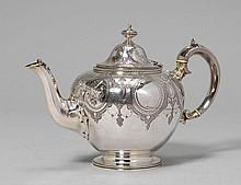 TEA POT,London 1857/58. Maker's mark E. & J.