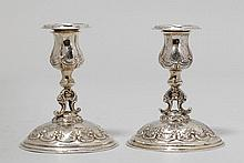 PAIR OF SMALL CANDLESTICKS,Germany, ca.