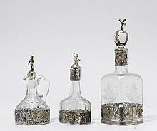 LOT VON 3 SMALL CARAFES,assorted. Germany and the