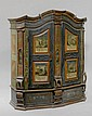 A PAINTED CUPBOARD,possibly Austria, inscribed