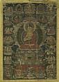 A THANGKA OF BUDDHA SHAKYAMUNI WITH EIGHT