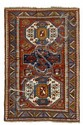 KAZAK old.Red ground with three large medallions