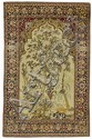 ISFAHAN PRAYER antique.Beige mihrab with dusky