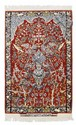 ISFAHAN SERAFIAN old.Red mihrab with light blue