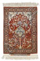 ISFAHAN SERAFIAN old.Red mihrab with white