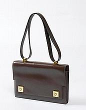 HERMES Paris. SAC Piano en box chocolat noir,