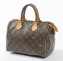 LOUIS VUITTON. SAC Speedy en toile Monogramm.