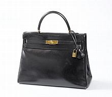 Hermes Kelly Bag, 35cm, 1 breites Stoffband dazu