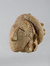 MINIANKA KOPF Mali. H 11 cm. Terrakotta.