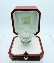 Lady's 2.01 CT Cartier Dome Ring set in 18K  White gold. Stones are E-Color with VVS  Clarity. Ring Size 7 3/4. Signed Cartier  781312. Ring weighs 14.2 DWT. $32.00 S&H