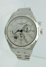 Vacheron Constaintin Overseas Dual Time  Automatic Silver Dial, SS Mens Watch, Chrono.  New Condition wth box and papers. $32.00