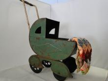 CHILDS DOLL STROLLER W/ QUILT