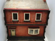 ANTIQUE ENGLISH ROW HOUSE DOLL HOUSE