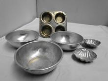 CHILDS TOY TIN COOKWARE 6PC