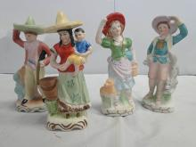 OCC. JAPAN FIGURES HAND PAINTED 4PC