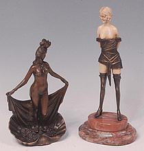 A contemporary Japanese bronzed metal model of a