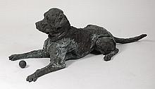 A large contemporary bronze composition model of a