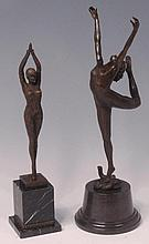 After Chiparus - A textured bronze model of a