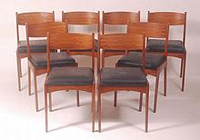 A set of eight 1960s teak barback dining chairs,