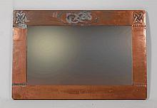 An Art Nouveau Glasgow School style copper framed