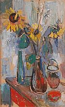 John Livesey (1926-1990) - Still life with flowers
