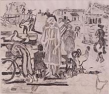 Anthony Gross (1905-1984) - Threshing, trial print