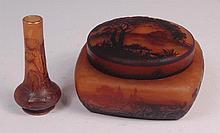 A Daum Nancy Art Nouveau glass Chardons vase, with