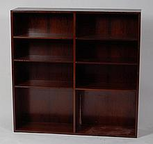 A 1960s Danish rosewood open bookshelf by Omann