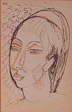 Edward Wolfe (S.African 1897-1982) - Female head,