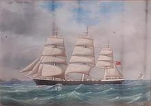 Tomasso de Simone (1805-1888) - The three-masted