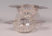 A pair of late Victorian silver sweetmeat baskets,