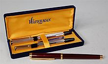 A cased Waterman's two piece pen set, the fountain
